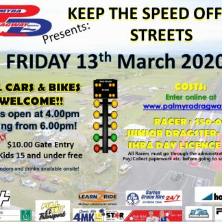 13-03-2020 Keep the speed off the streets